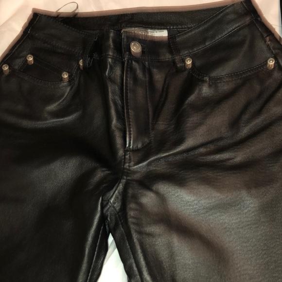 Newport News Pants - Black leather pants. Size 4P &6P